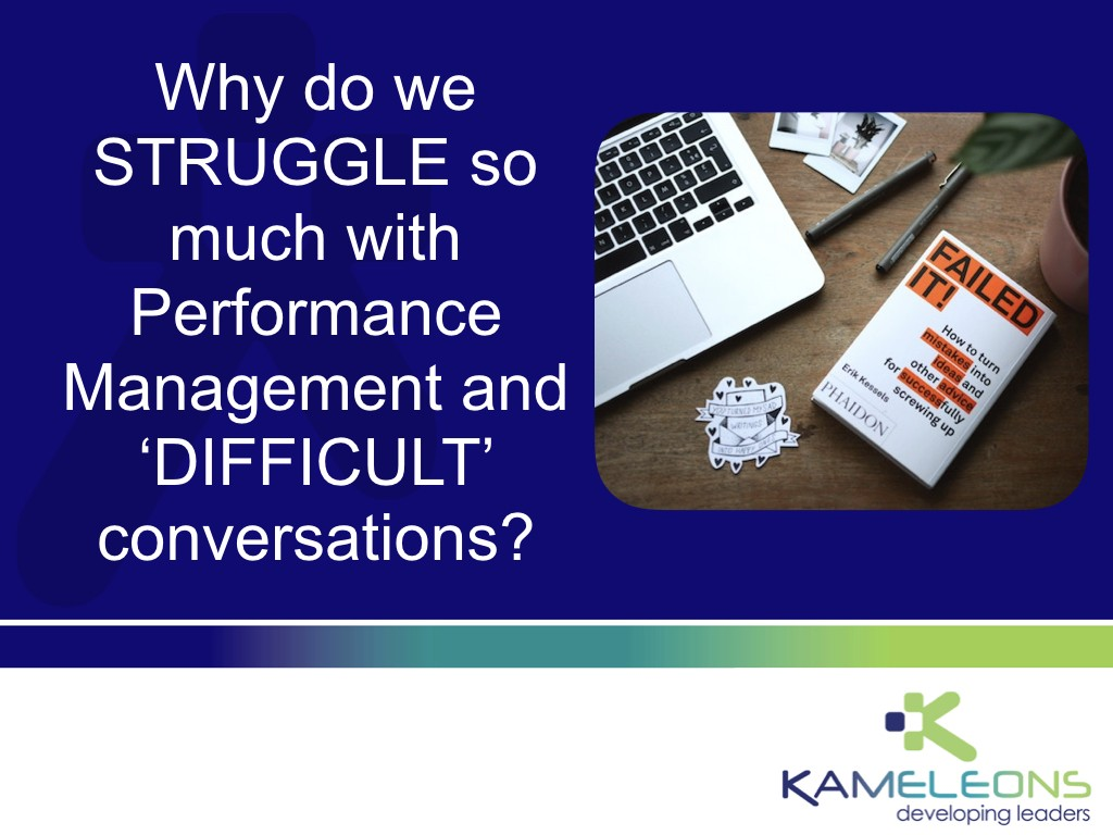 Performance Management and Difficult Conversations