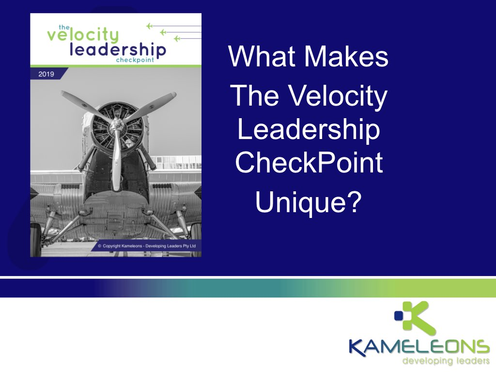 Velocity Leadership CheckPoint - Leadership Profile