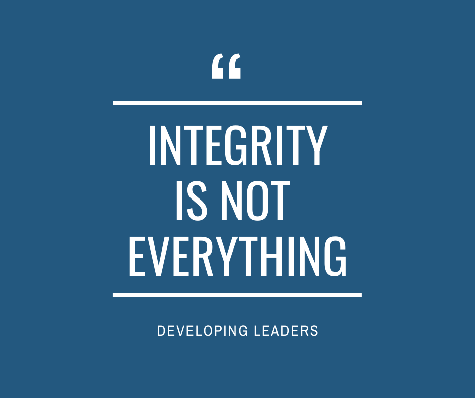 Integrity is not Everything