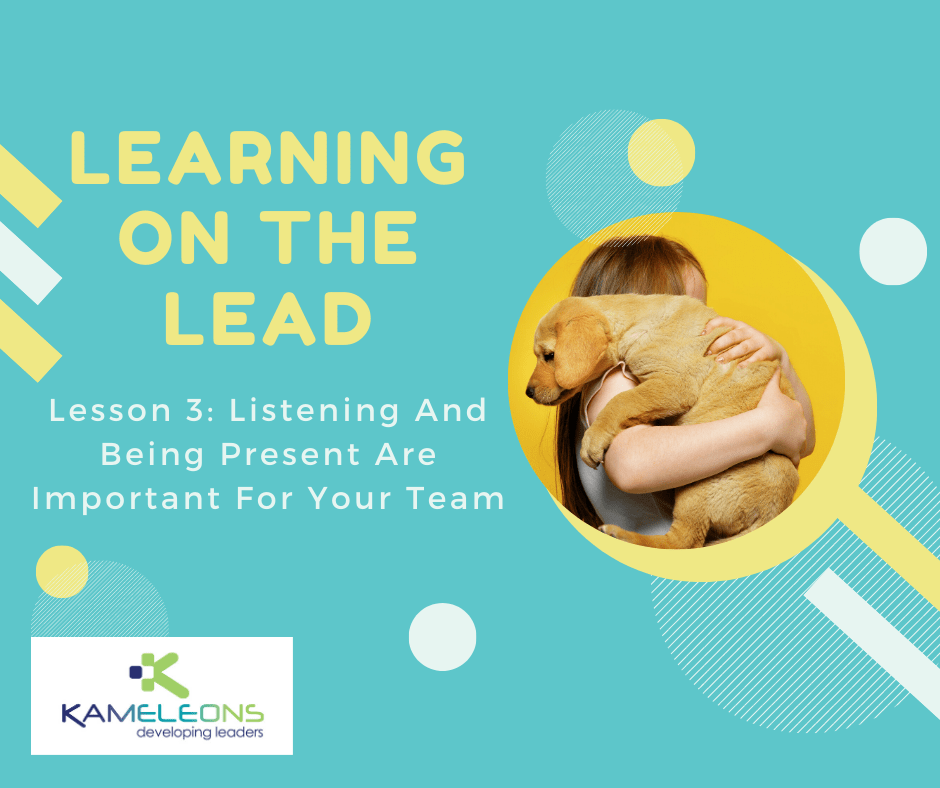 Learning On the Lead: Listen and Be Present for Your Team. Cute Dog Picture