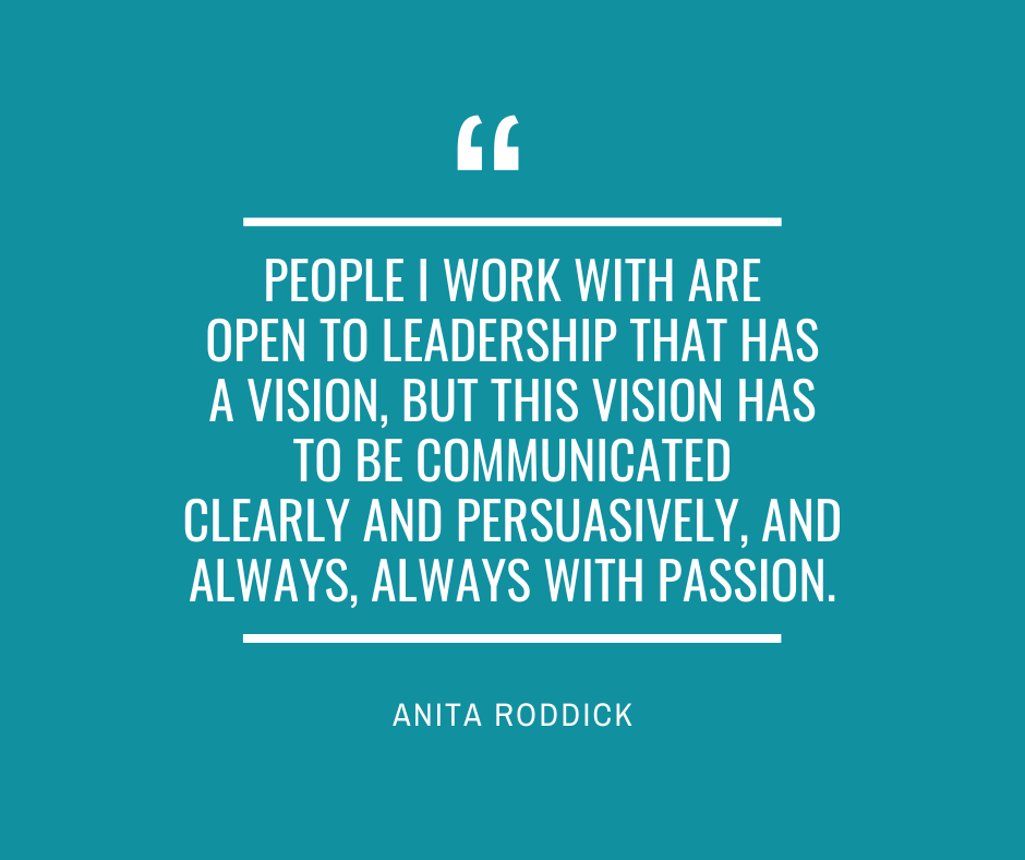Anita Roddick - communicating vision with passion