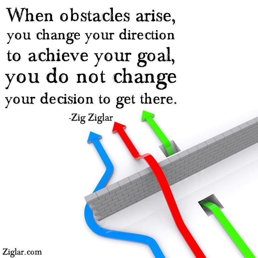 When Obstacles Arise You Change Direction
