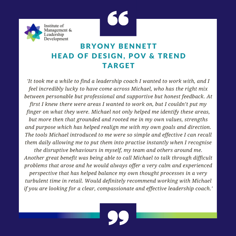 Executive Leadership Coaching Testimonial - Bryony Bennett, Target