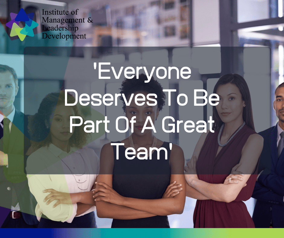 Everyone deserves to be part of a great team