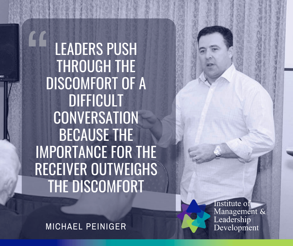 Michael Peiniger - Leaders Push Through The Discomfort Of Difficult Conversations