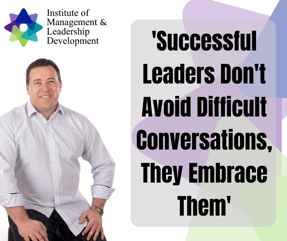 Successful leaders don't avoid difficult conversations