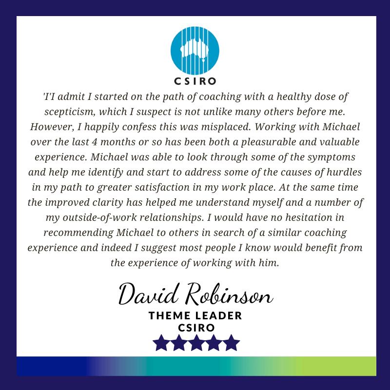 Executive Leadership Coaching Testimonial - David Robinson