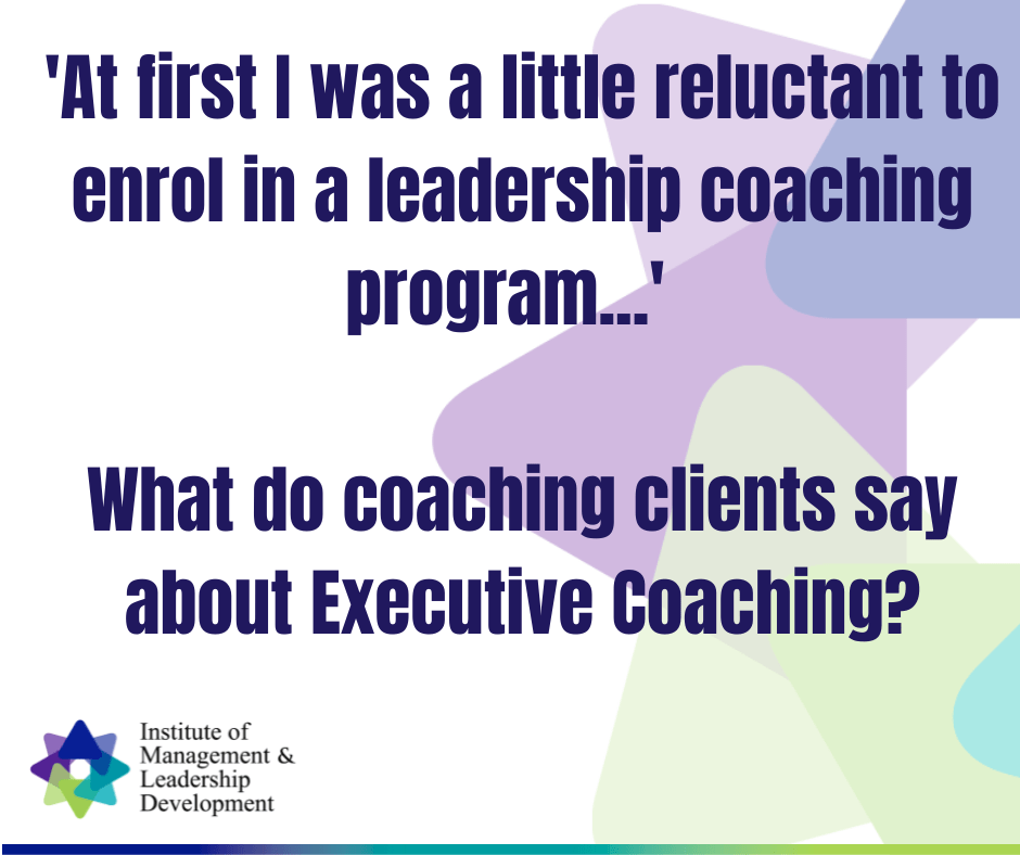What do executive coaching clients say about coaching?