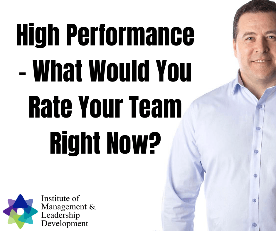High Performance What Would You Rate Your Team Right Now?