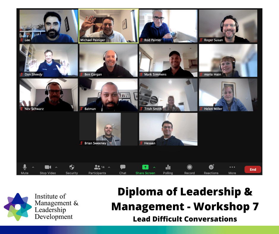 Diploma Workshop 7 - Lead Difficult Conversations