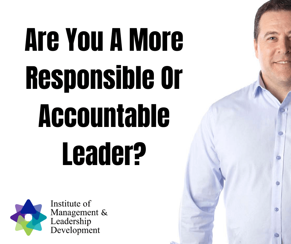 Responsible or Accountable Leader